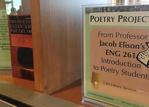 Poetry Display at Charleston Campus Library